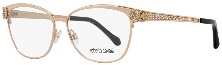 Roberto Cavalli Oval Eyeglasses RC945 Rigel A28 Size: 55mm Rose Gold/Black 945