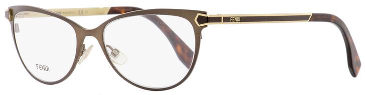 Fendi Oval Eyeglasses FF0024 7WG Brown/Gold/Havana 53mm 024