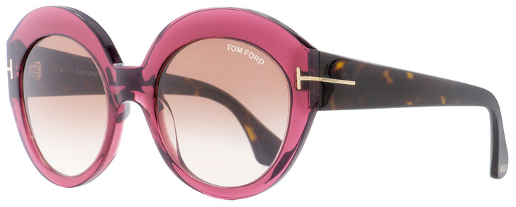 Tom Ford Oval Sunglasses TF533 Rachel 71F Burgundy/Havana 54mm FT0533
