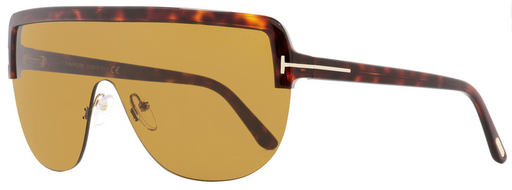 Tom Ford Shield Sunglasses TF560 Angus-02 54E Havana/Gold 0mm FT0560