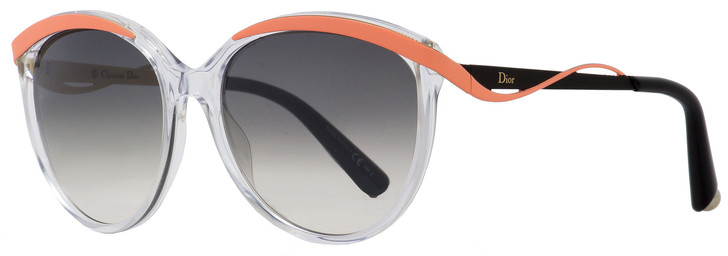 Dior Oval Sunglasses Metaleyes 1 6OCIZ Crystal/Coral/Black 57mm