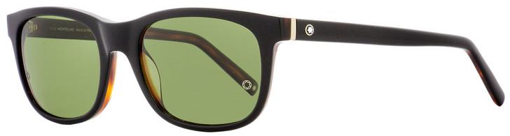 Montblanc Rectangular Sunglasses MB507S 01N Black/Havana Polarized 53mm 507