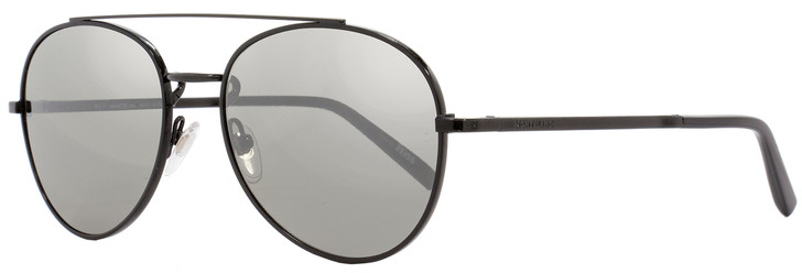 Montblanc Aviator Sunglasses MB605S 02C Shiny Black 56mm 605