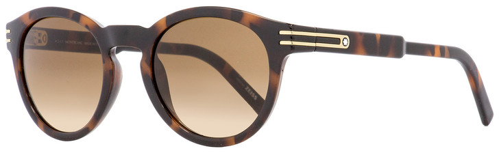 Montblanc Oval Sunglasses MB642S 52F Dark Havana 51mm 642