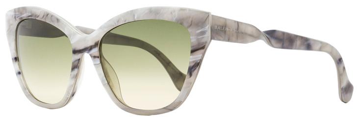 Balenciaga Rectangular Sunglasses BA52 24B Ice White Melange/Palladium 56mm BA0052