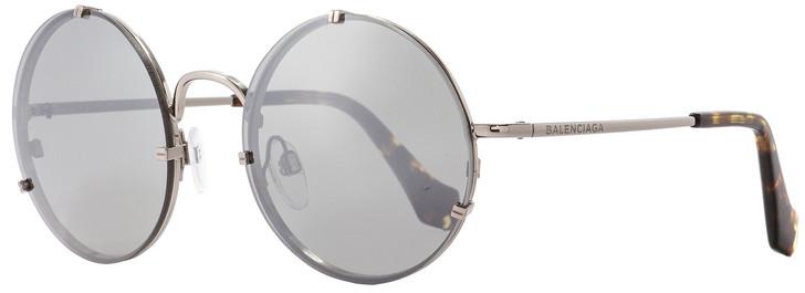 Balenciaga Round Sunglasses BA86 14C Ruthenium/Havana 55mm BA0086