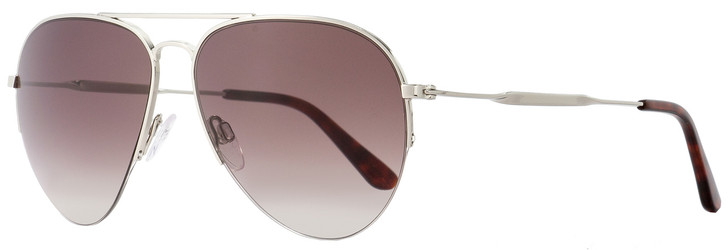 Balenciaga Aviator Sunglasses BA125 16T Ruthenium/Havana 58mm BA0125