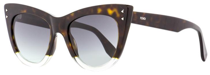 Fendi Cateye Sunglasses FF0238S PHWIB Dark Havana/Clear 52mm 238