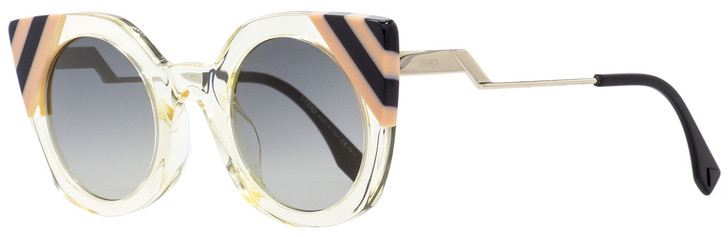 Fendi Round Sunglasses FF0240S 40G9O Clear/Rose/Black 47mm 240
