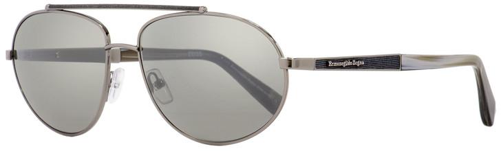Ermenegildo Zegna Aviator Sunglasses EZ0037 12C Ruthenium 61mm 37