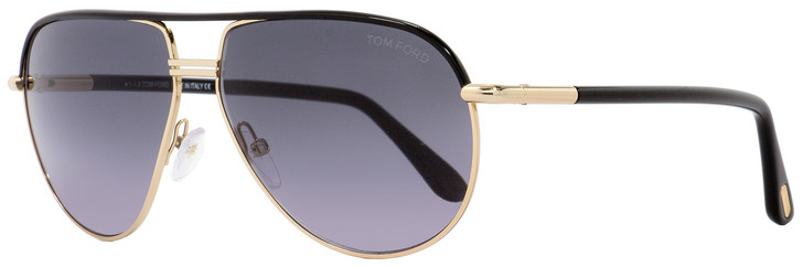 Tom Ford Aviator Sunglasses TF285 Cole 01B Black/Gold 61mm FT0285