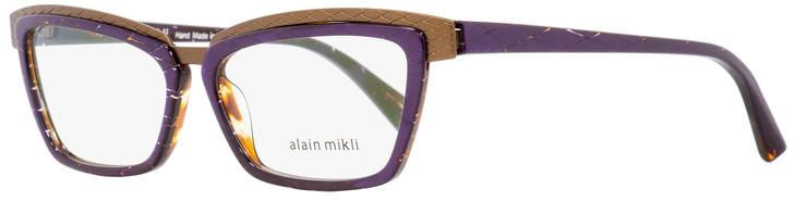 Alain Mikli Rectangular Eyeglasses A02015 E012 Purple/Bronze/Brown 53mm 2015