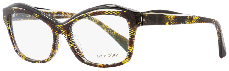 Alain Mikli Rectangular Eyeglasses A03042 E013 Brown/Black Chevron 54mm 3042