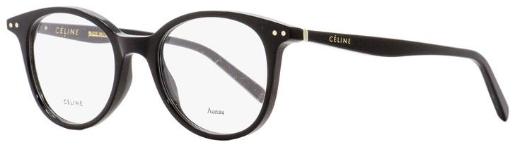 Celine Oval Eyeglasses CL41407 807 Black 49mm 41407