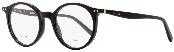 Celine Oval Eyeglasses CL41408 807 Black 49mm 41408