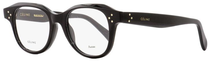 Celine Oval Eyeglasses CL41457 807 Black 47mm 41457