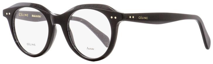 Celine Oval Eyeglasses CL41458 807 Black 45mm 41458