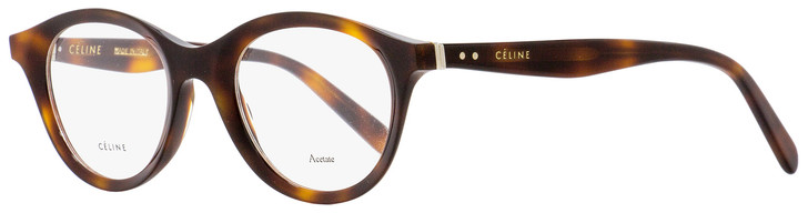 Celine Oval Eyeglasses CL41464 086 Dark Havana 46mm 41464