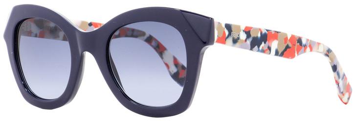 Fendi Square Sunglasses FF0204S 5OMLL Navy Blue/Multicolor 48mm 204