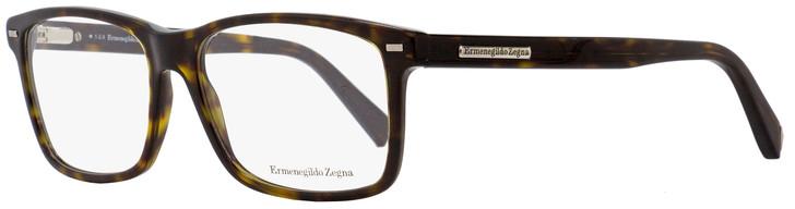 Ermenegildo Zegna Rectangular Eyeglasses EZ5002 053 Blonde Havana 57mm 5002