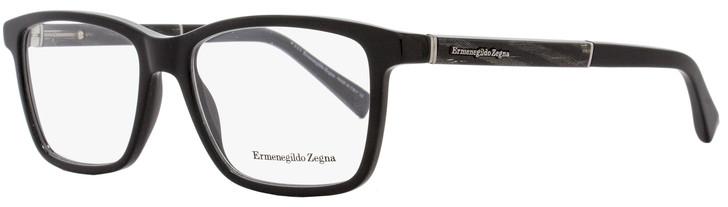 Ermenegildo Zegna Rectangular Eyeglasses EZ5012 005 Black/Gray Horn 57mm 5012