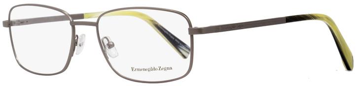 Ermenegildo Zegna Rectangular Eyeglasses EZ5021 015 Matte Ruthenium/Horn 55mm 5021