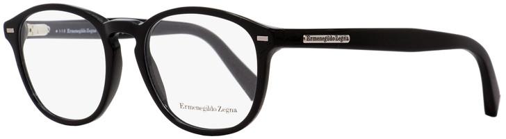 Ermenegildo Zegna Oval Eyeglasses EZ5057 001 Black 49mm 5057