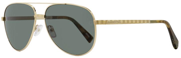 Ermenegildo Zegna Aviator Sunglasses EZ0027 32N Gold/Havana 60mm 27