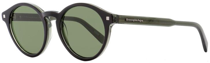 Ermenegildo Zegna Oval Sunglasses EZ0063 05N Black/Transparent Gray 50mm 63