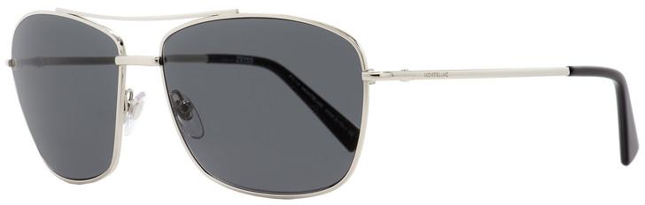 Montblanc Rectangular Sunglasses MB548S 16A Palladium/Black 63mm 548