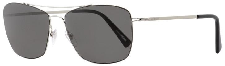 Montblanc Rectangular Sunglasses MB594S 16A Palladium/Black 59mm 594