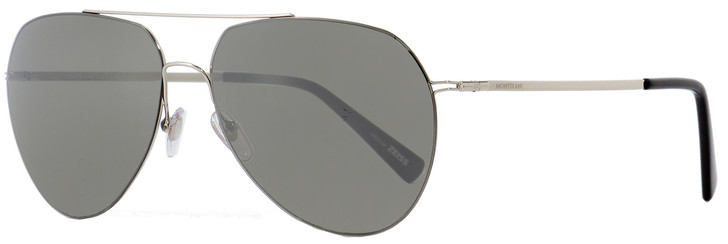 Montblanc Aviator Sunglasses MB595S 16A Palladium/Black 60mm 595