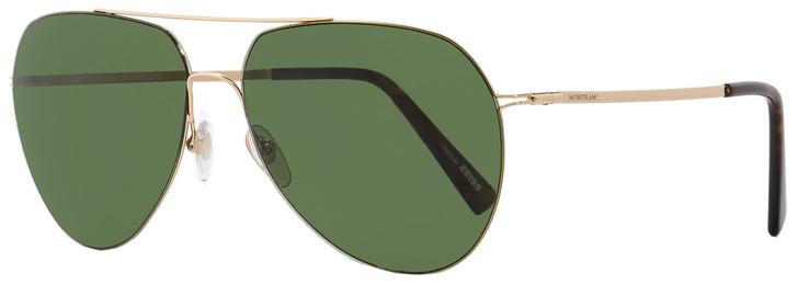 Montblanc Aviator Sunglasses MB595S 28N Gold/Havana 60mm 595