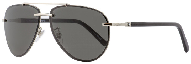 Montblanc Aviator Sunglasses MB596S 16A Palladium/Black 62mm 596