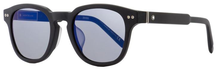 Montblanc Oval Sunglasses MB693SF 02X Matte Black 51mm 693