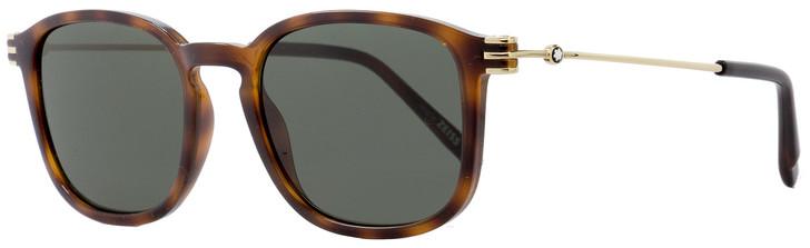 Montblanc Oval Sunglasses MB698S 52J Dark Havana/Gold 52mm 698