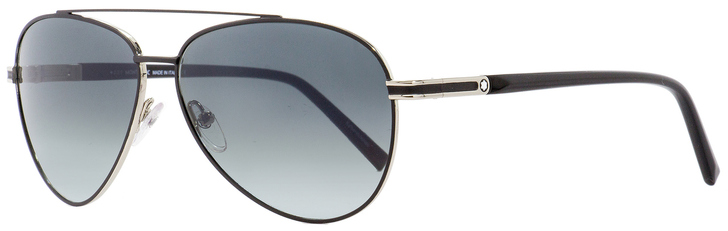 Montblanc Aviator Sunglasses MB702S 02B Black/Palladium 59mm 702