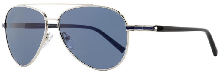 Montblanc Aviator Sunglasses MB702S 16V Palladium/Black 59mm 702