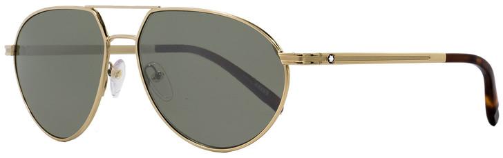 Montblanc Aviator Sunglasses MB714S 32Q Gold/Havana 59mm 714