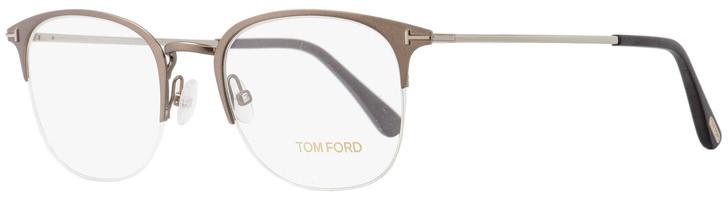 Tom Ford Semi-Rimless Eyeglasses TF5452 013 Matte Light Ruthenium 52mm FT5452