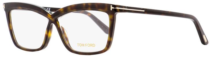 Tom Ford Butterfly Eyeglasses TF5470 052 Dark Havana 55mm FT5470