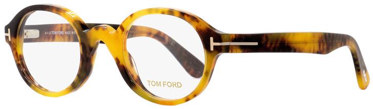 Tom Ford Round Eyeglasses TF5490 056 Honey Havana 46mm FT5490