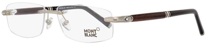 Montblanc Rimless Eyeglasses MB491 016 Palladium/Rosewood/Black 56mm 491