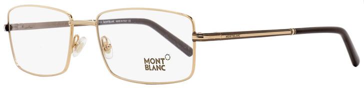 Montblanc Rectangular Eyeglasses MB578 048 Gold/Brown 58mm 578