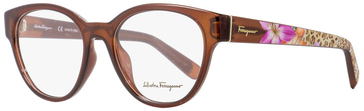 Salvatore Ferragamo Oval Eyeglasses SF2777 210 Transparent Brown 53mm 2777