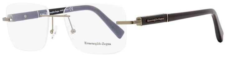 Ermenegildo Zegna Rimless Eyeglasses EZ5035 034 Bronze/Dark Havana 56mm 5035