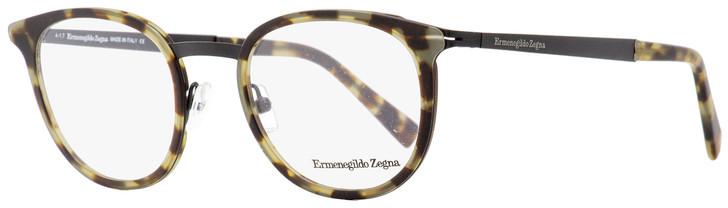 Ermenegildo Zegna Oval Eyeglasses EZ5048 055 Vintage Havana/Black 49mm 5048