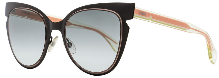 Fendi Cateye Sunglasses FF0133S NPZJJ Black/Crystal/Pink 52mm 133