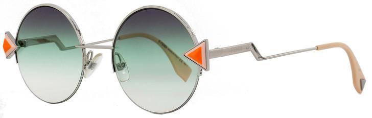 Fendi Round Sunglasses FF0243S VGVQC Silver/Pink 51mm 243