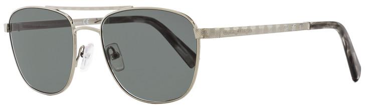 Ermenegildo Zegna Rectangular Sunglasses EZ0071 14A Ruthenium/Gray 55mm 71